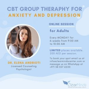 cbt group therapy for anxiety and depression